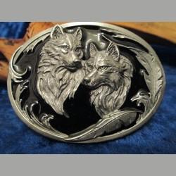 Gürtelschnalle Wölfe