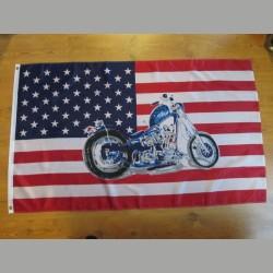 US- Flagge mit Motorrad