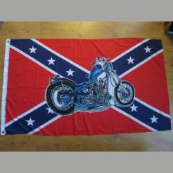 Südstaatenfahne mit Motorrad