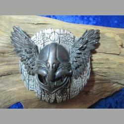 Gürtelschnalle mit Helm und Flügel