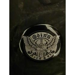 """Button """" Odin's Krieger """" schwarz"""