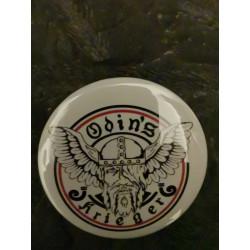 """Button """" Odin's Krieger """"  weiß"""